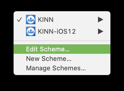 XCode Project Edit Scheme